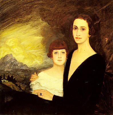 Digital Art - Zubiaurre Ramon Mother And Daughter by Zubiaurre