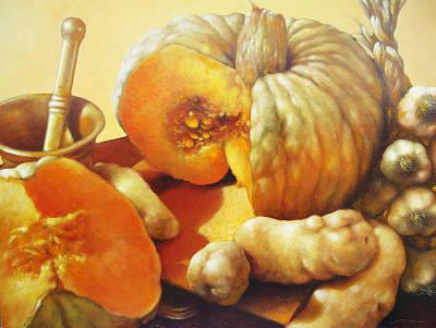 Quadri Painting - Zucche E E E Patate by Lorenzo Fontana ALBAURA