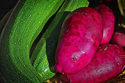Photograph - Zucchini And Red Potatoes by Cathy Mahnke