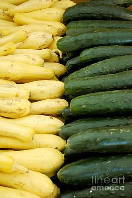 Zucchini On Display At Farmers Market 2 Art Print by Micah May
