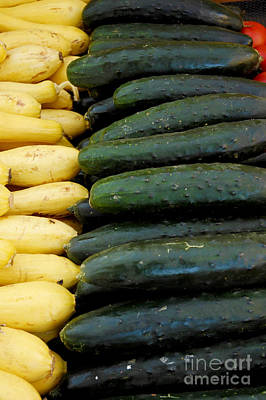 Zucchini On Display At Farmers Market 3 Art Print by Micah May