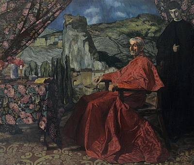 Painting - Zuloaga  Ignacio Eibar Gipuzkoa 1870 Madrid 1945 El Cardenal by Artistic Panda