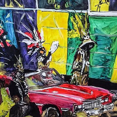 Mardi Gras Painting - Zulu Krewe by Paula Baker