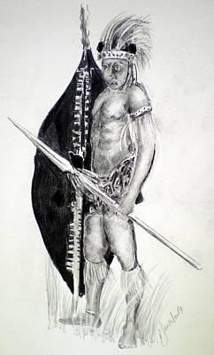Zulu Roarkes Drift Art Print by Paul Sandilands