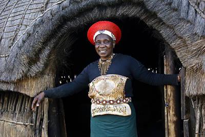Photograph - Zulu Woman by Michele Burgess