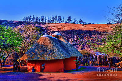 Photograph - Zululand Houses by Rick Bragan