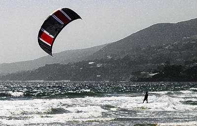 Zuma Beach Kite Surfer Original by Doug Chambers