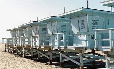 Photograph - Zuma Beach Lifeguard Stands by Kathleen McGinley