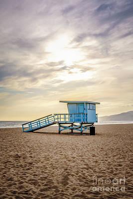 Photograph - Zuma Beach Lifeguard Tower #2 Malibu Sunset by Paul Velgos