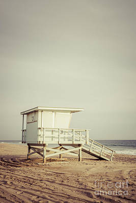 Zuma Beach Lifeguard Tower #3 Malibu California Art Print