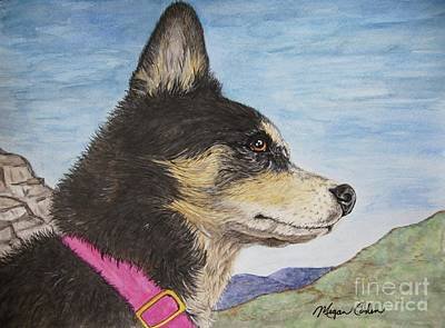 Pet Portraits Painting - Zuma by Megan Cohen