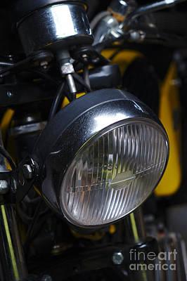 Classic Zundapp Bike Xf-17 Lamp Detail Art Print