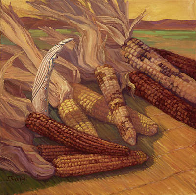 Painting - Zuni Corn Maiden by Jane Thorpe
