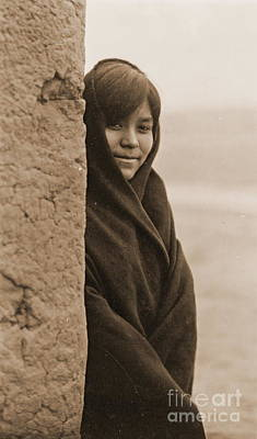 Zuni Photograph - Zuni Girl Smiles by Padre Art