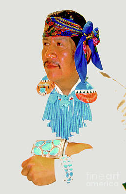 Zuni Photograph - Zuni Indian by Linda  Parker