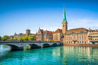 Photograph - Zurich City Center by JR Photography