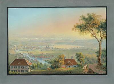Suisse Painting - Zurich Et Ses Environs by MotionAge Designs