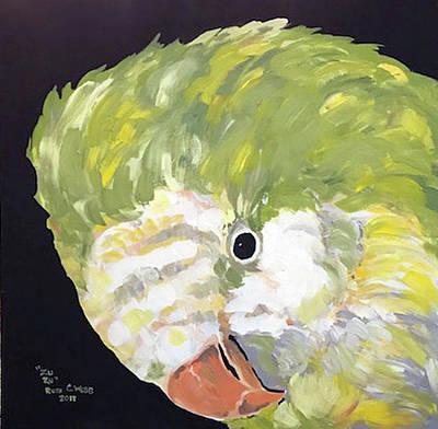 Quaker Parrot Painting - Zuzu by Ruth Webb