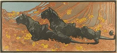Painting - Zwarte Panters Bernard Willem Wierink, 1866  1939 by Artistic Panda