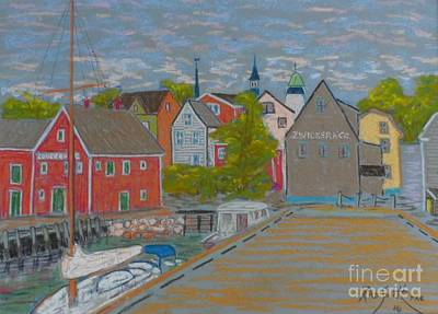 Zwickers Wharf Lunenburg Art Print by Rae  Smith