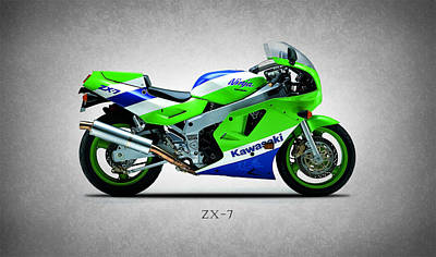 Kawasaki Photograph - Zx-7 Ninja 1989 by Mark Rogan