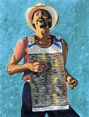 Zydeco Joe Art Print by Jerry Schwehm