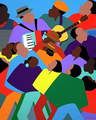 Wall Art - Painting - Zydeco by Synthia SAINT JAMES