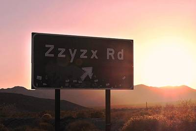 Photograph - Zzyzx Road by Matt Harang