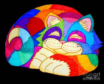 Animals Drawings - ZZZZZZZZZZZZ Cat by Nick Gustafson