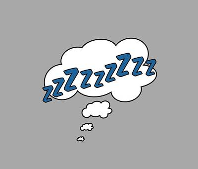 Comics Royalty-Free and Rights-Managed Images - ZZZZZZZZzzzzz by Marianna Mills