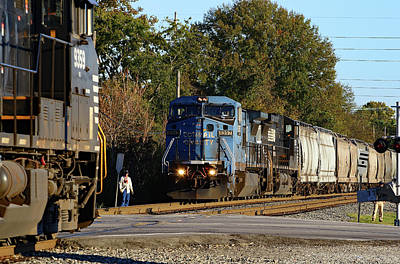Photograph - @ Trains In Colatown 10 by Joseph C Hinson Photography