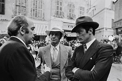 Photograph - 0n The Set Of The Movie Borsalino by Jean-pierre Bonnotte