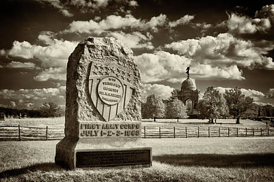Photograph - 16th Vermont Infantry Monument by Paul W Faust - Impressions of Light