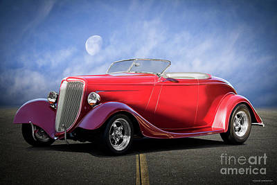 Curated Beach Towels - 1934 Ford Convertible Coupe by Dave Koontz