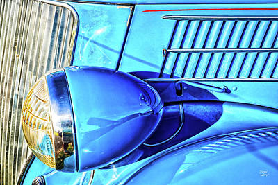 Photograph - 1936 Ford Model 48 Deluxe Convertible Sedan by Gestalt Imagery