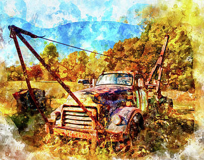 Digital Art - 1950 Gmc Truck by Mark Allen