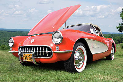 Photograph - 1957 Corvette Fuelly by Bill Dutting