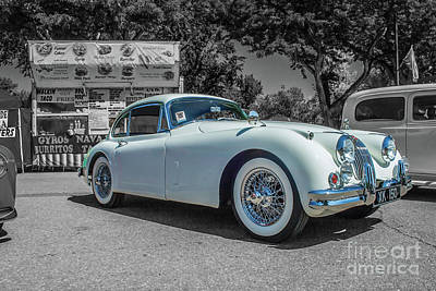 Photograph - 1958 Jaguar Xk 150 by Tony Baca