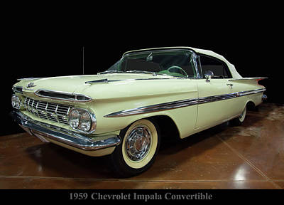 Photograph - 1959 Chevy Impala Convertible by Chris Flees