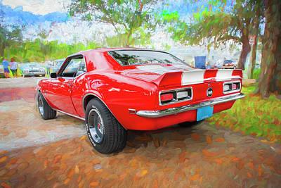 Photograph - 1968 Chevrolet Camaro 350 Ss 004 by Rich Franco