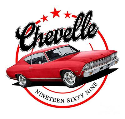 Mixed Media Royalty Free Images - 1969 Chevelle Royalty-Free Image by Paul Kuras