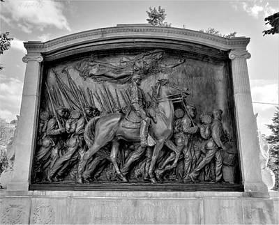 Photograph - 54th Massachusetts Infantry Regiment Monument by Rob Hans