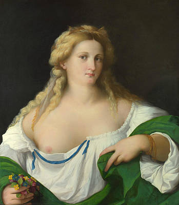 Painting - A Blonde Woman by Palma Vecchio