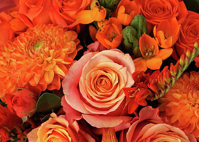 Photograph - A Close-up Of A Bouquet Of Flowers by Nicholas Eveleigh