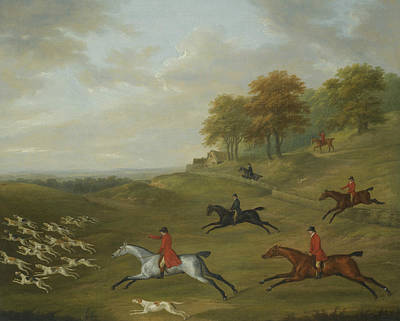 Painting - A Hunt In Full Cry by John Nost Sartorius