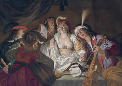 Painting - A Musical Company  by Gerard Seghers