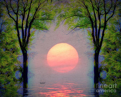 Art Print featuring the digital art A New Day by Edmund Nagele