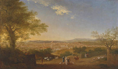 Painting - A Panoramic View Of Florence From Bellosguardo by Thomas Patch