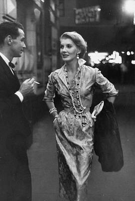 Photograph - A Scene From A Private Fashion Show.  P by Nina Leen