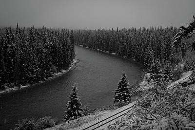 Photograph - A View From The Side Of The Bow Valley Parkway, Banff National P by David Butler